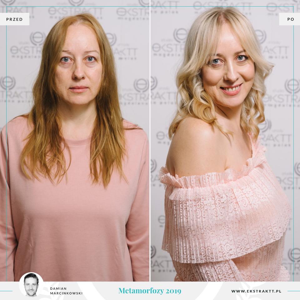 Metamorfozy w Poznaniu w salonie fryzjerskim Studio Urody Ekstraktt